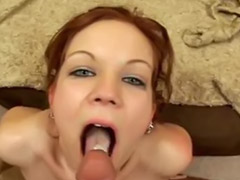 Swallow, Piercing, Redhead, Swallowing