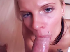 German, Swallow, Pov, German amateur, German sucks, Pov blowjob