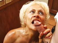 Anal, Granny, Threesome, Grannies, Stockings, Blowjob