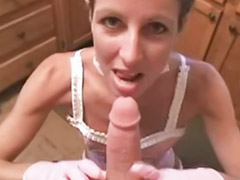 Handjob, Skinny, Blowjob, Masturbation, Pov, Maid
