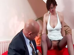 Old, Mature couple, Redhead, Mature