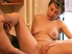 Mature, Kitchen, Masturbation