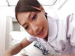 Nurse, Japanese, Pantyhose, Japanese handjob, Footjobs, Nurse handjob