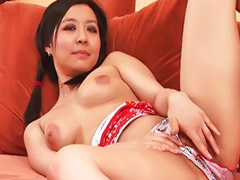 Black, Asian, Teen, Masturbation, Shaved, Masturbating