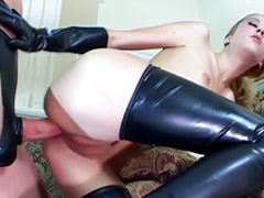 Latex, Rubber, High heels, Bondage