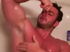 Gay, Muscle, Muscles, Masturbation