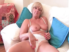 Granny, Grannies, Masturbation, Big tits, Shaved, Blonde