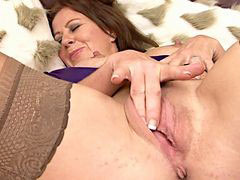 Masturbation, Mature, Stockings, Masturbate
