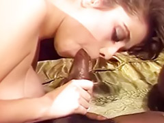 Interracial, Vintage, Blowjob, Hairy