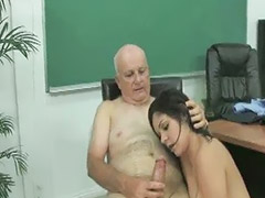 家里 teacher, Hair cum, Cum hair, Asian black cum, Múinteoir