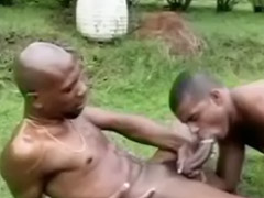 Big cock, Ebony, Black, Big black cock, Handjob, Gay