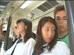 Bus, Schoolgirl, Groping