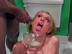 Gangbang, Bukkake, Swallow, D cup, Bukkake swallow, Cum-swallowers