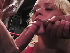Gangbang, Ebony, Interracial, Gangbang interracial, Deepthroat, Piercing