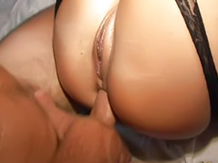 Amateur, Anal, Threesome, Stockings, Black, Stocking