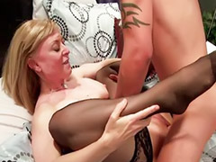 Mature, Mother, Kissing, Milf