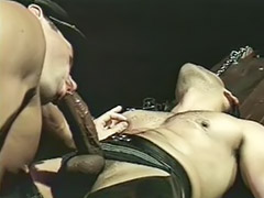 Gay, Blowjob, Bondage, Anal, Leather
