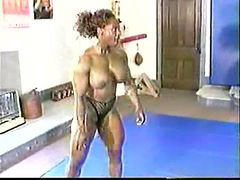 Bodybuilder, Mix wrestling, Female bodybuilders, Bodybuilders, Mixed wrestling, Wrestling mixed
