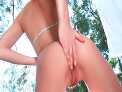 Outdoor, Natasha, Outdoor masturbation, Sexy girle, Solo outdoor, Undressing