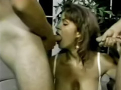 Tiffany, Mouth gangbang, Mouth gangbanged, Two cock, Mouth, Tiffani