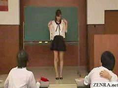 Japanese students, Reluctance, Strip in front of, Stripping nude, Students japanese, Student japanese