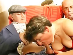 Gangbang, Mature, Gang bang, Old