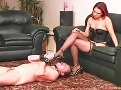 Couple slave, Heel stocking fetish, My slave, Maggots, Couple slaves, Redhead slave