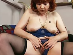 Mature, Rubbing, Old, Mom, Dirty, Old mom