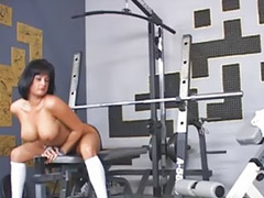 Gym, Naked, Gym girls, Public tits, Big tits gym, Tits public