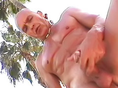 Gay mature, Twink, Pool, Mature blowjob