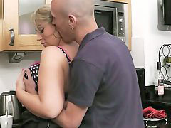 Milf, Kitchen, Bbw, Blonde