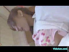 Standing fingering, Standing fingered, Licking in the kitchen, Kitchen asian, Asian kitchen, Fingering and licking
