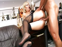 Anal babe, Hot babe blonde, Her ass lick, Anal ass hot, Lingerie anal, Masturbating in  heels