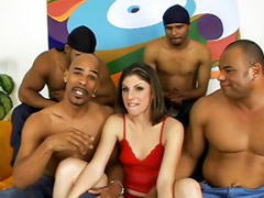 Gangbang interracial, Interracial gangbang, Lane, Katie cummings, Gangbanged brunette, Katie