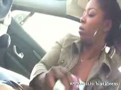 Ebony girlfriend, Graceful, Ebony car, Grace c, Blow job car, Car blow