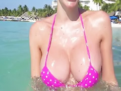 Bikini, Glasses, Big tit shemales, Public shemale, Latin shemale outdoors, Outdoor latin