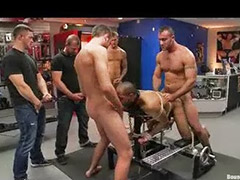 Leather, Gay gangbang, Shopping, Shop, Bound gangbang, Gangbang gay