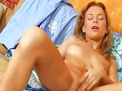 Hot solo fingering, Blonde fingering solo