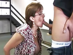 Mature, Young, Mature blowjob, Mature handjob, Mature masturbation, Dress