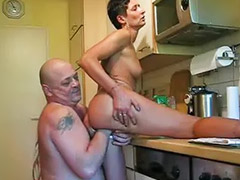 Fisting, Kitchen, Wife, Fist, My wife, Mature wife