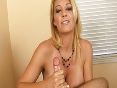 Jerking, Big dick, Busty milf, Jerk,  big dick, Owned couple
