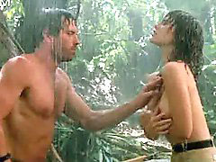 Naked in the rain, In the naked, Hard nipple, Hard nipples, Raine, R rain