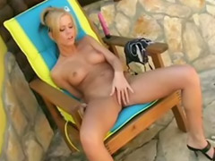 Jenna lovely, Outdoor love, Jenna shaved, I love it, Bikini heels, Bikini blonde outdoor