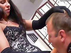 Femdom, Russian, Beautiful, Strap on, Slave