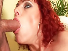 Tongue, Tonguing, Tongue sex, Tongue cum, Tongue blowjob, Redhead pov blowjob