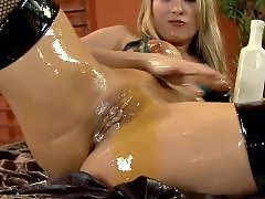 Stocking oil, Oiled black, In oil, Fishnets anal, Fishnet oil, Anal oiled