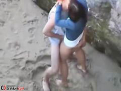 Beach, Teens, Sex, Teen, Teen couple, Beach sex