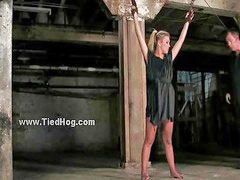Chained, Chains, Spanking blonde, Liz m, Chain, Blonde bondage