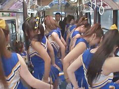 Japanese, Horny, Cheerleader, Japanese uncensored mift, 3 cheerleaders, Japaneses