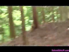 Forest, Give schoolgirl, Forest blowjob, Forest busty, Busty schoolgirl, Blowjob forest